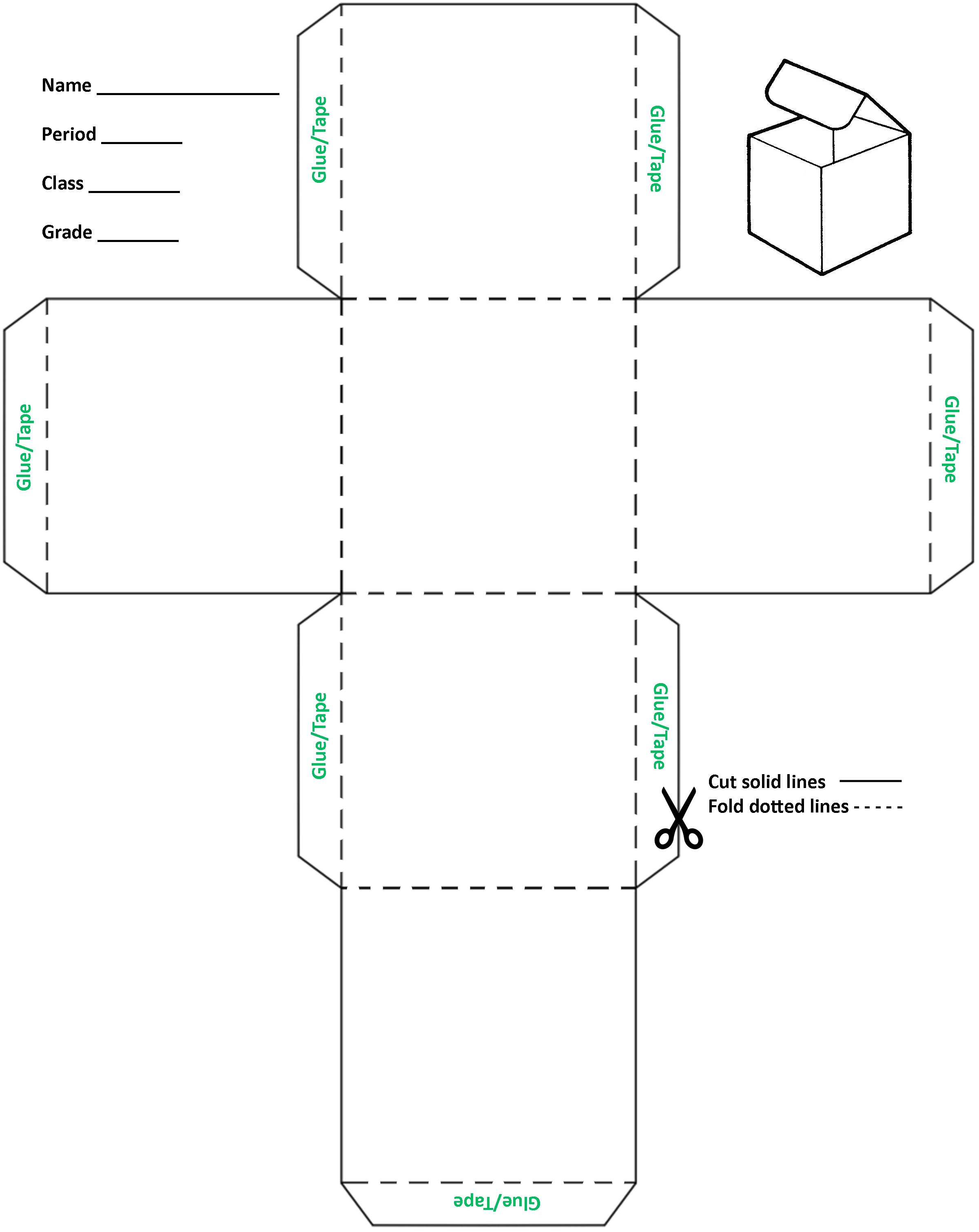 4 Inch Cube Template
