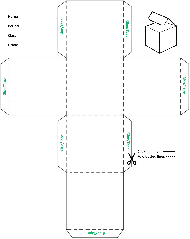 4 inch cube template - Google Search | MS | Pinterest | School