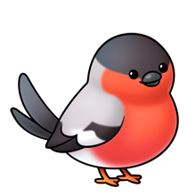 Bird - bullfinch-- Lots of clip art on this site