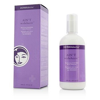 Aint Misbehavin Medicated Aha/bha Acne Cleanser - For Oily Blemish-prone Or Combination Skin