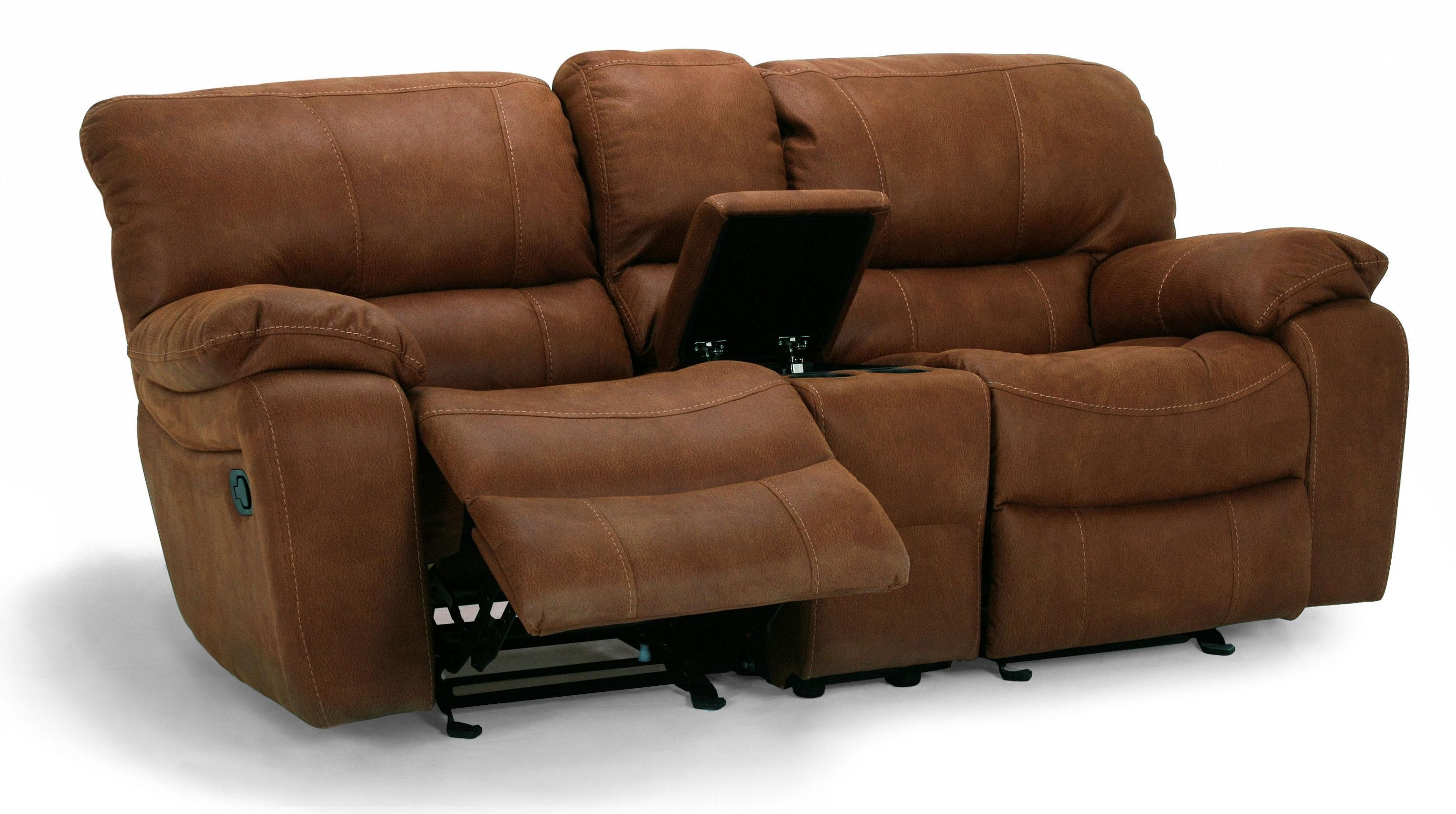 Flexsteel furniture latitudes grandview collection featuring double reclining loveseat with Reclining loveseat with center console