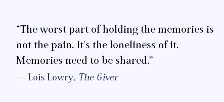 The Giver Book Quotes The Worst Pain Of Holding The Memories Is Not The Painit's The .