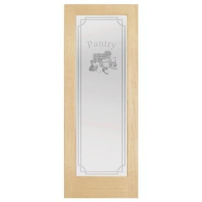 Steves Sons 24 In X 80 In Decorative Glass Pantry Unfinished Pine Interior Door Slab J64npnnnac99 The Home Depot Pine Interior Doors Door Design Interior Pantry Interior