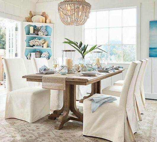Coastal Calm Table Dining Room By Pottery Barn Coastal Living