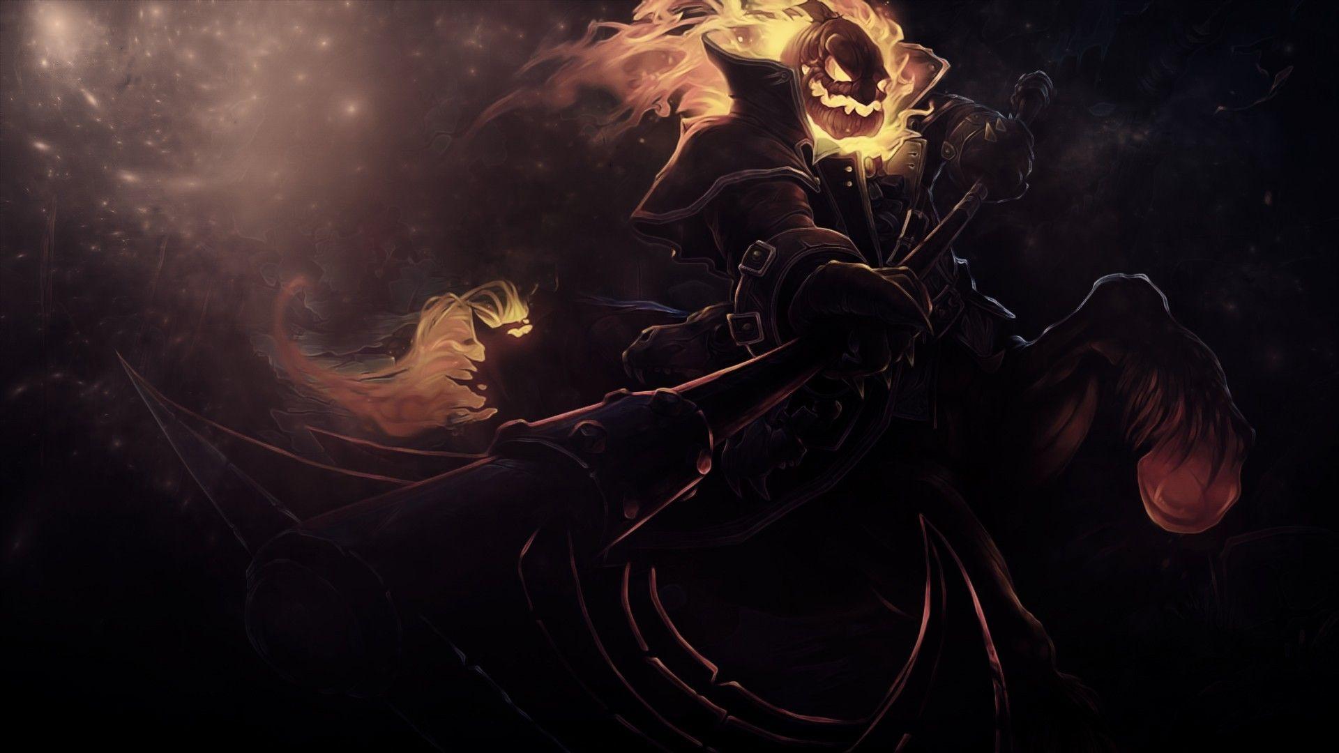 Hecarim Fantasy Art Halloween Wallpaper League Of Legends
