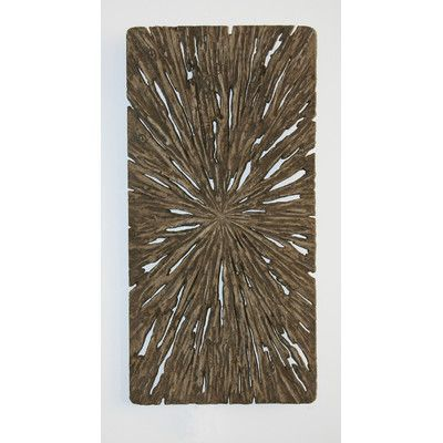 "Screen Gems Rectangle Wall Décor - Aged Tree Cross-Section (Set of 2) Size: 12"" H x 24"" W x 2"" D"