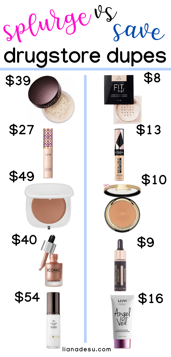 Best Drugstore Makeup Dupes The Ultimate List Liana Desu In 2020 Makeup Dupes Best Drugstore Makeup Drugstore Makeup Dupes