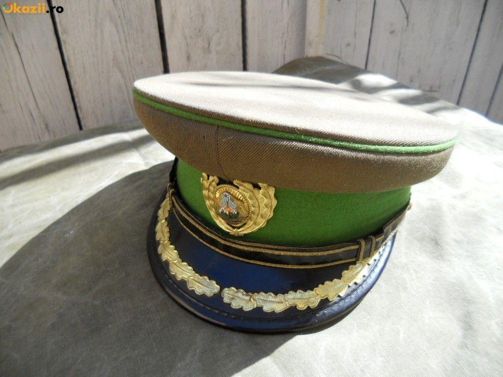 Cascheta de ofiter Graniceri RSR   Romanian Border Guard officers  visor cap . 01ba50f2e6d