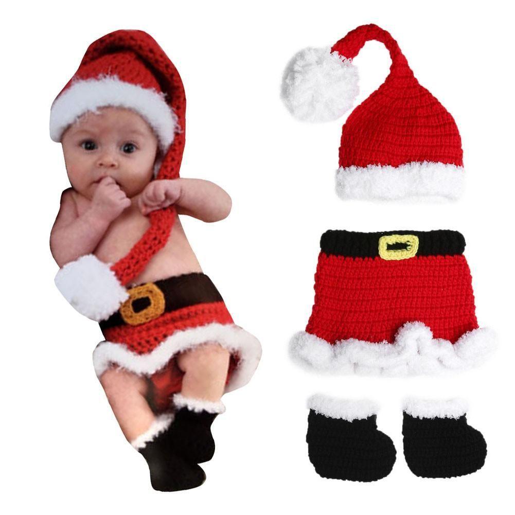 Baby Mrs. Claus Santa Crochet | Crochet Newborn Outfits | Pinterest ...