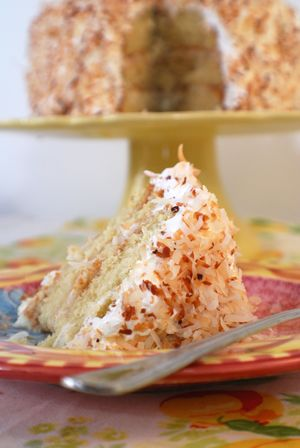 I think the real name is just Coconut Layer Cake, but it's good enough to warrant a name change. My friend Courtney made this for my bi...