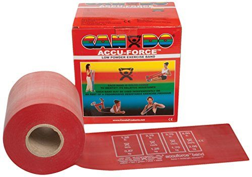 CanDo 10-5922 AccuForce Exercise Band, 50 yd Roll, Red-Light