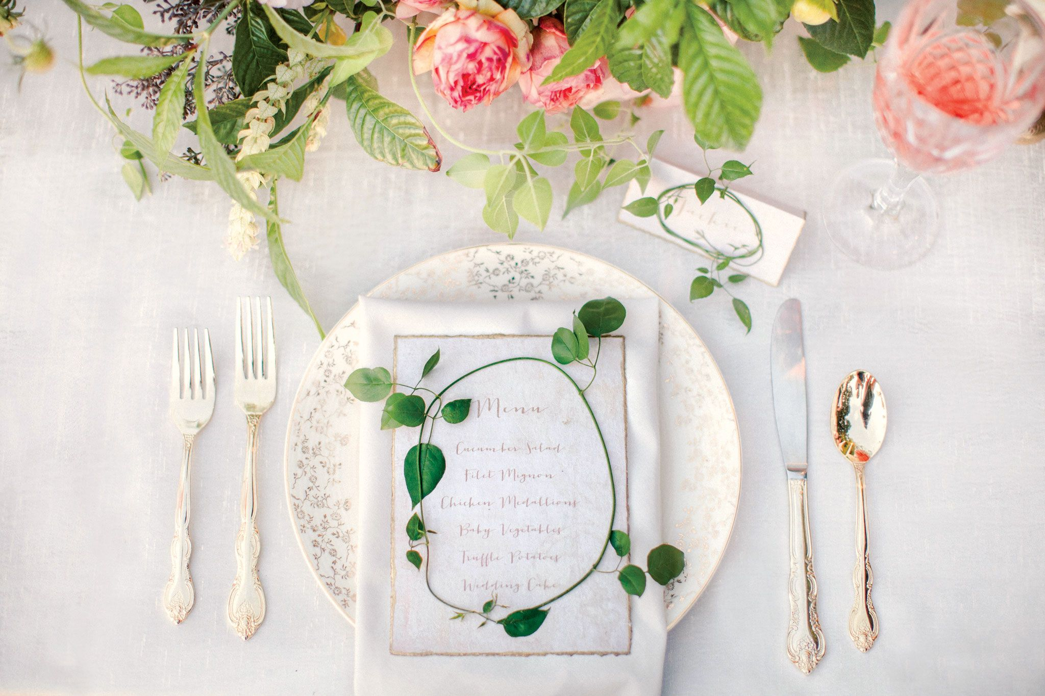 A Vintage-Inspired Outdoor Wedding in Florida | Wedding menu cards ...