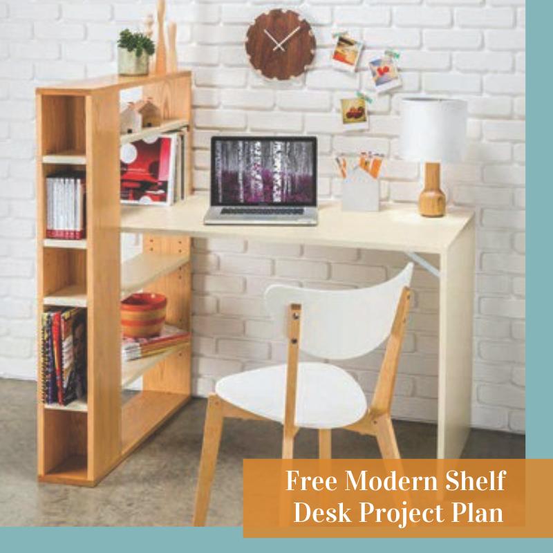 Modern Shelf Desk In 2020 Desk Shelves Shelves Build Your Own