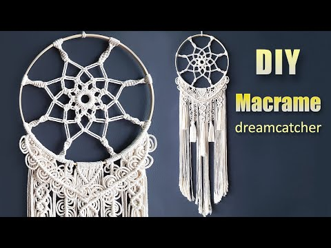 Diy Tutorial How To Make A Macrame Dreamcatcher Youtube Dream Catcher Tutorial Macrame Patterns Tutorials Dream Catcher