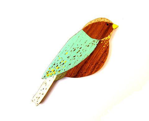 Little Bird Wall Bird by Anna Wiscombe