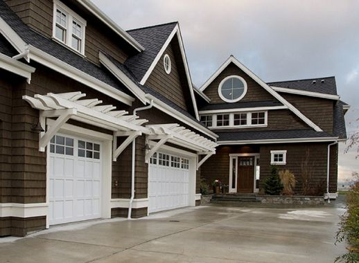 Coney S Garage Doors Brown House Exterior Exterior House Colors House Exterior