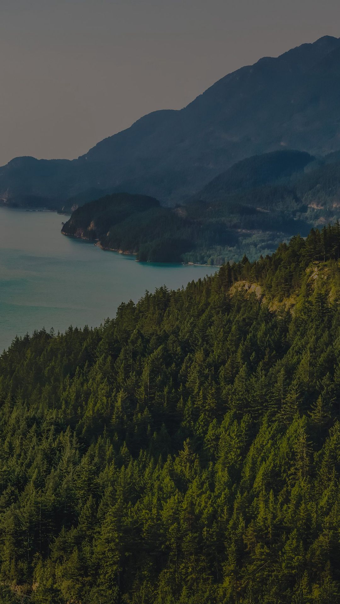 Lake Green Nature Wonderful Blue Summer Day Mountain Dark
