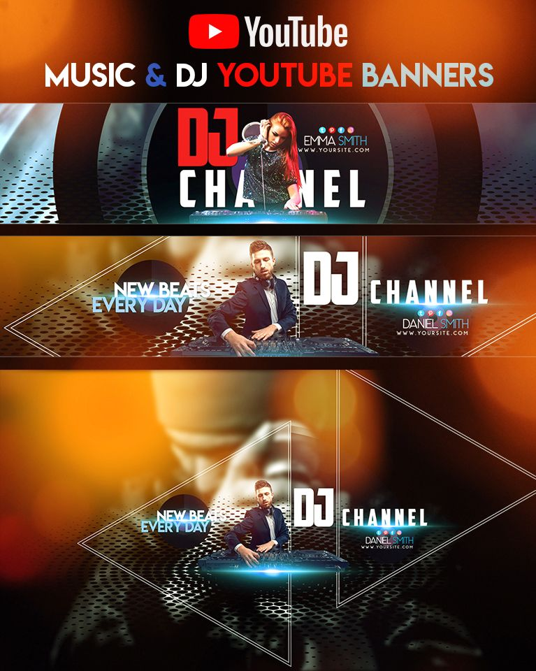 Do you need free music for your next. Music Dj Youtube Banners Youtube Banners Banner Youtube