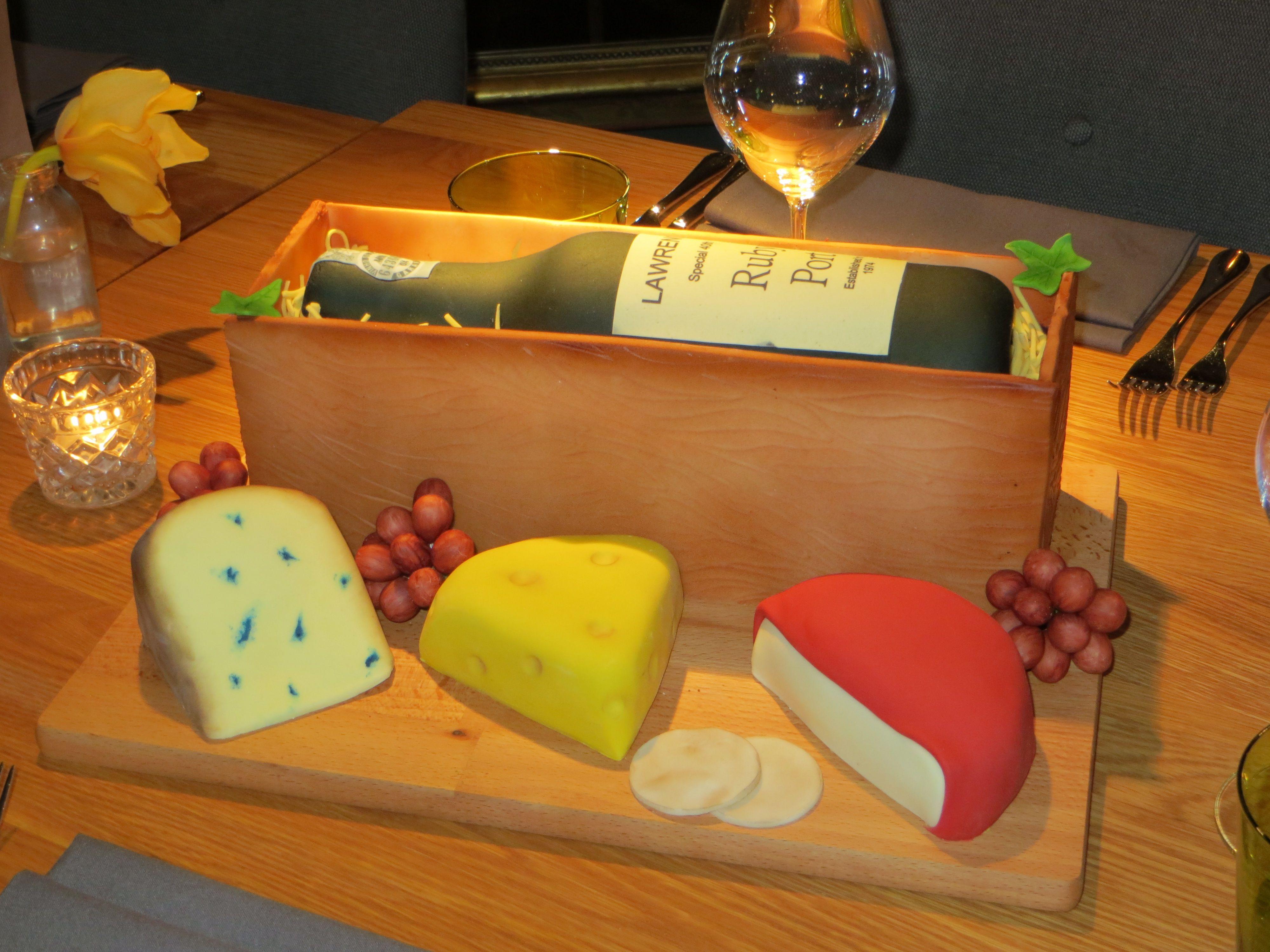 Wine and cheeseboard cake All Things Cake Pinterest Wine Cake
