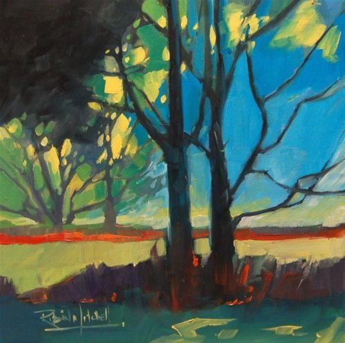 """Original Fine Art For Sale: """"No 575 Through The Trees"""""""