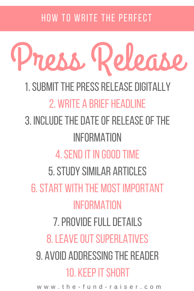 Press release example how to make the flawless event for Press release brief template