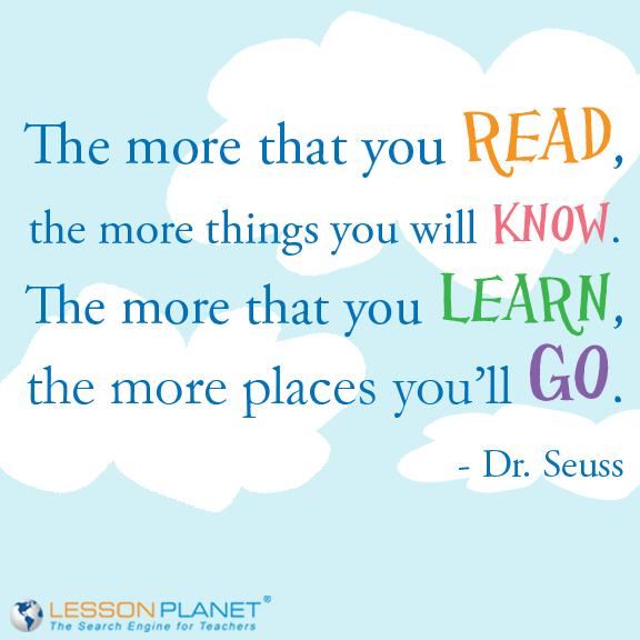 Dr Seuss Lesson Plans Worksheets Lesson Planet Lesson Planet Go For It Quotes Teacher Quotes
