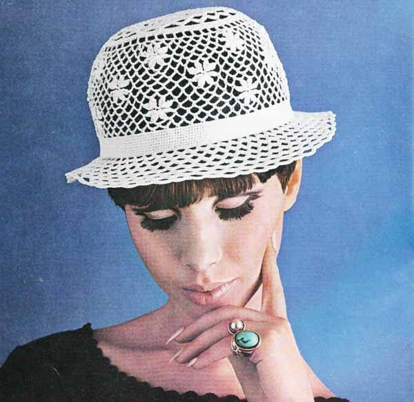 1950s LACE SUMMER HAT Vintage Crochet Pattern, Cloche Sun Hat ...