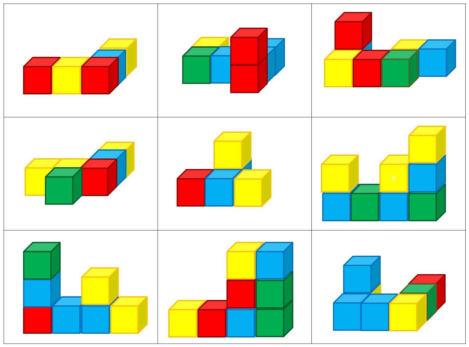 Kleur en vorm: Blokkenbouwsels | wiskunde | Pinterest | Math ...