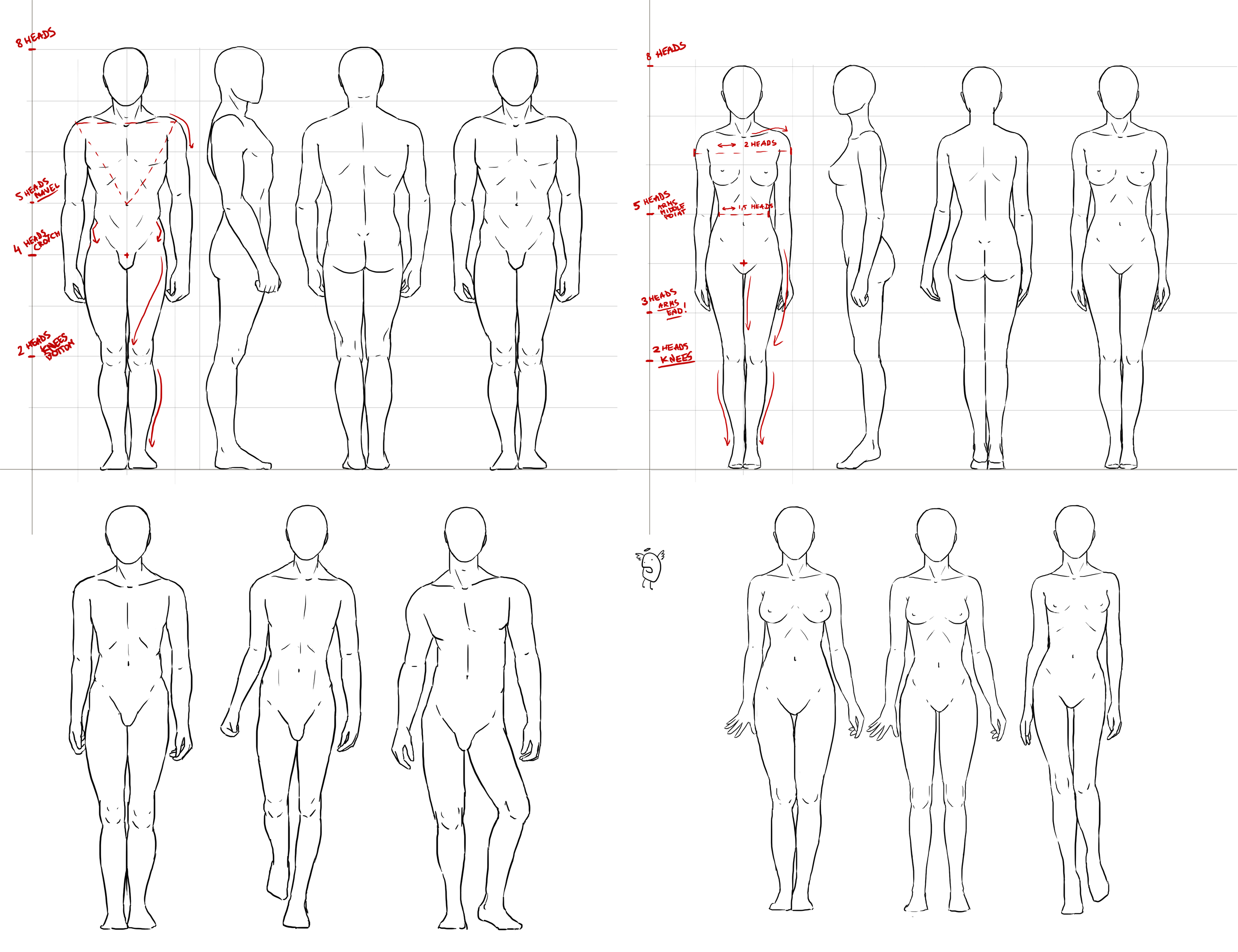 Anatomy simple standing pose by nimportant deviantart com on deviantart