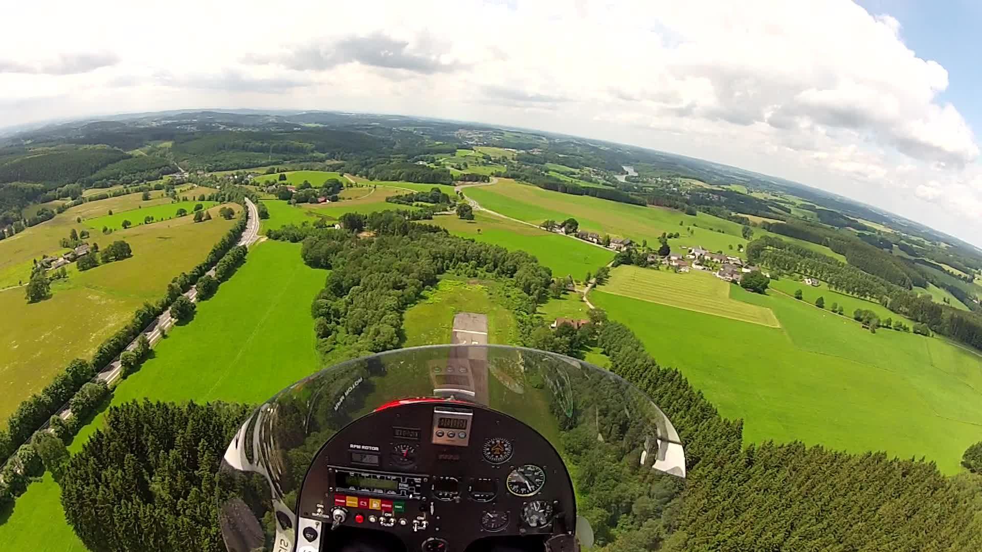 Flug im Gyrocopter Magni M16