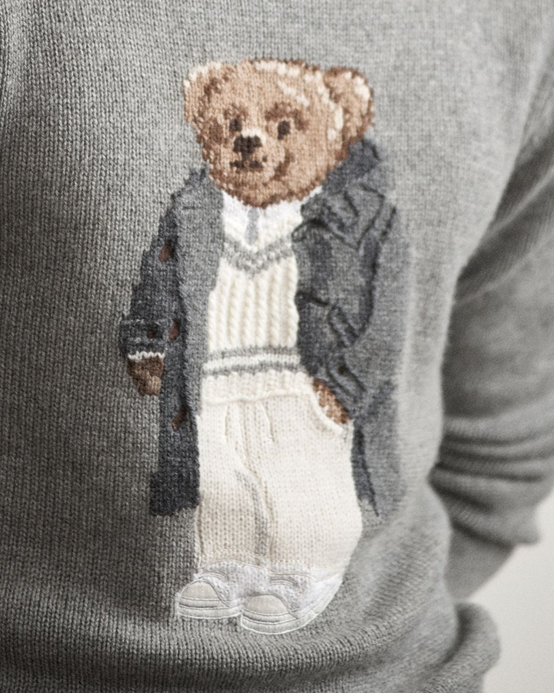 b0b02cd07 An intricate interpretation of the iconic Polo Bear Sweater