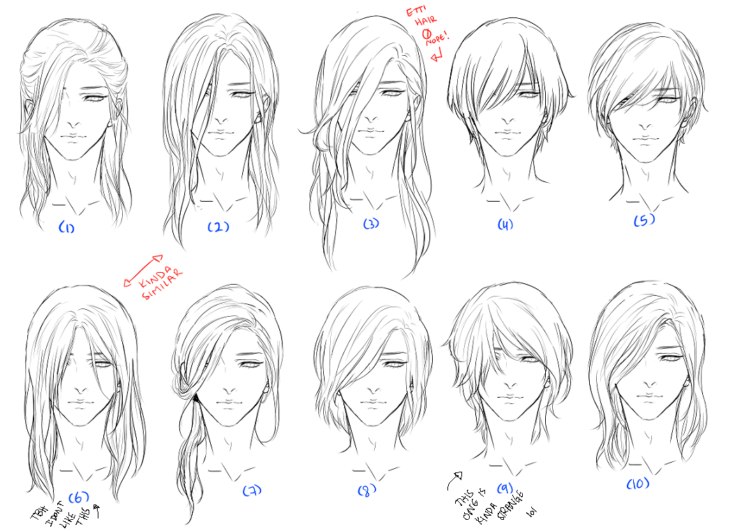 Draw Hairstyles In 2020 How To Draw Hair Anime Hair Hair Reference