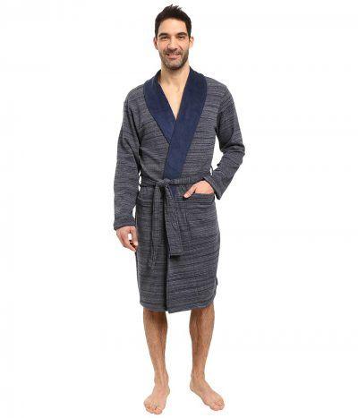 UGG - Robinson Shawl Collar Robe (Navy Heather) Men s Robe  0c760888d