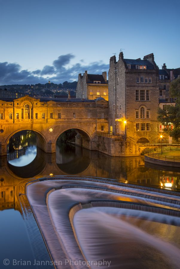Pulteney Bridge over River Avon, Bath, Somerset, England.  © Brian Jannsen Photography