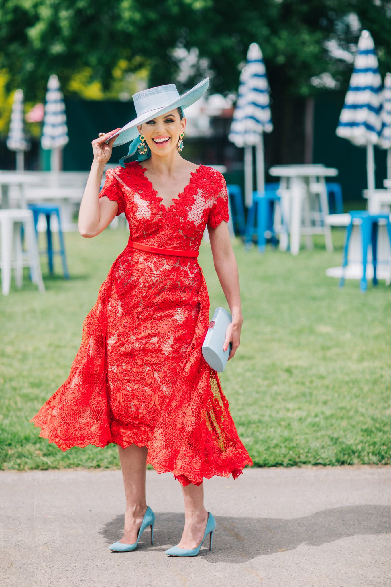 Red Lace Dress Fashions On The Field Winner 2017 Fashion