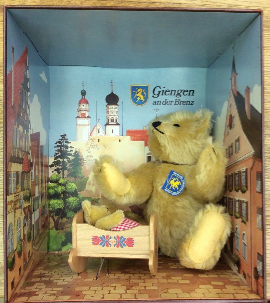 New Margarete Steiff Giengen Brenz Mohair Teddy Bear Set Boxed Ltd Ed 009039