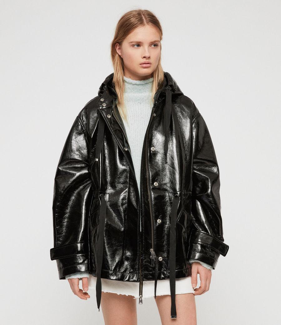 ALLSAINTS US Womens Kelsie Nya Jacket (shiny_black