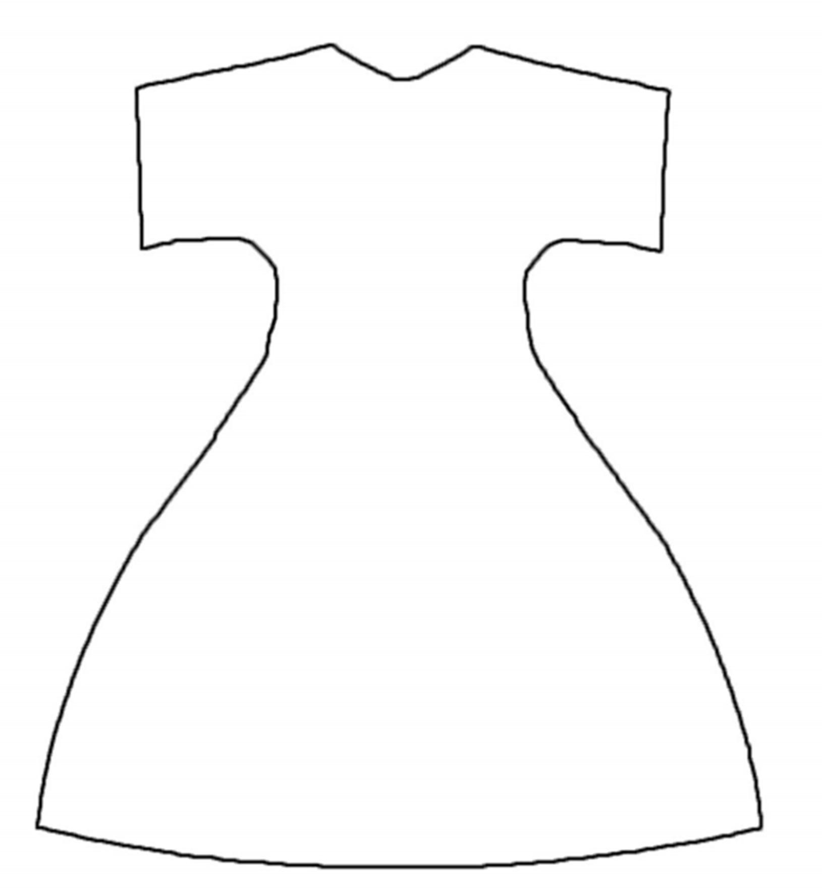Шаблон Платья Для Аппликации В Младшей Группе