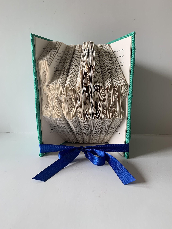 Family Folded Book Art Sculpture