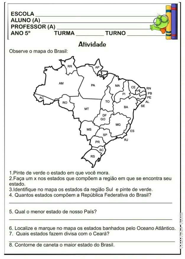 Pin De Daiana Jesus Silva Em Geografia Atividades De Geografia