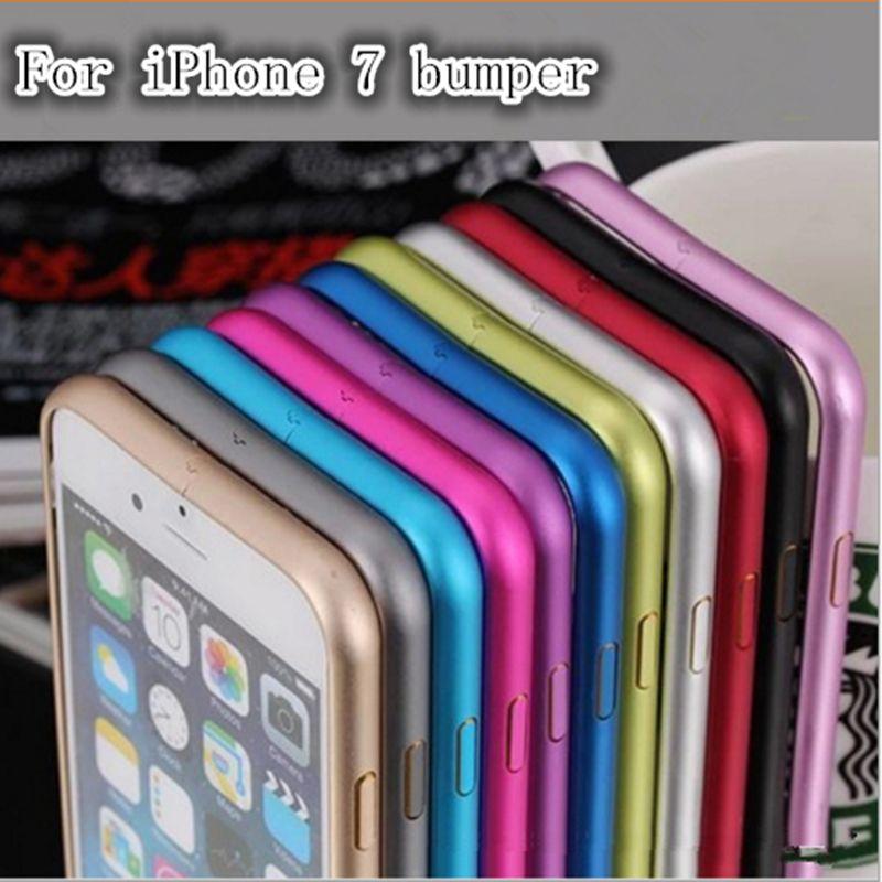 Für iPhone7 7 Plus Fall Aluminium Metall Stoßfeld-fall-abdeckung für iPhone 7 plus Ultra Thin Slim case Für iphone 7G Stoßfall