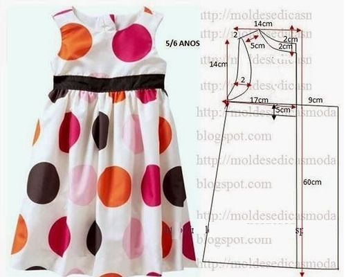 Diy idea how to make tutorial sew little girl dress | closeth kids ...