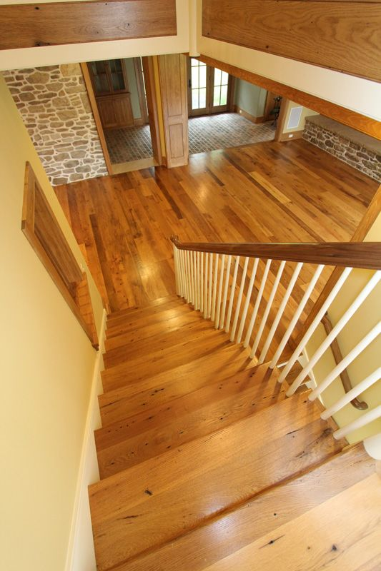 Solid Reclaimed Oak Wood Flooring And Stair Parts. Antique Reclaimed  American Oak From The ReSAWN