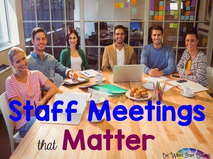 TheWriteStuffTeaching: Staff Meetings That Matter