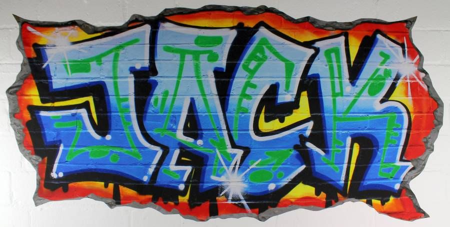 personalised blue graffiti wall stickers in 2019   graffiti and air