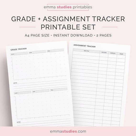 photograph regarding Grade Tracker Printable called Pupil Quality, Analysis and Undertaking Tracker Printable Pack
