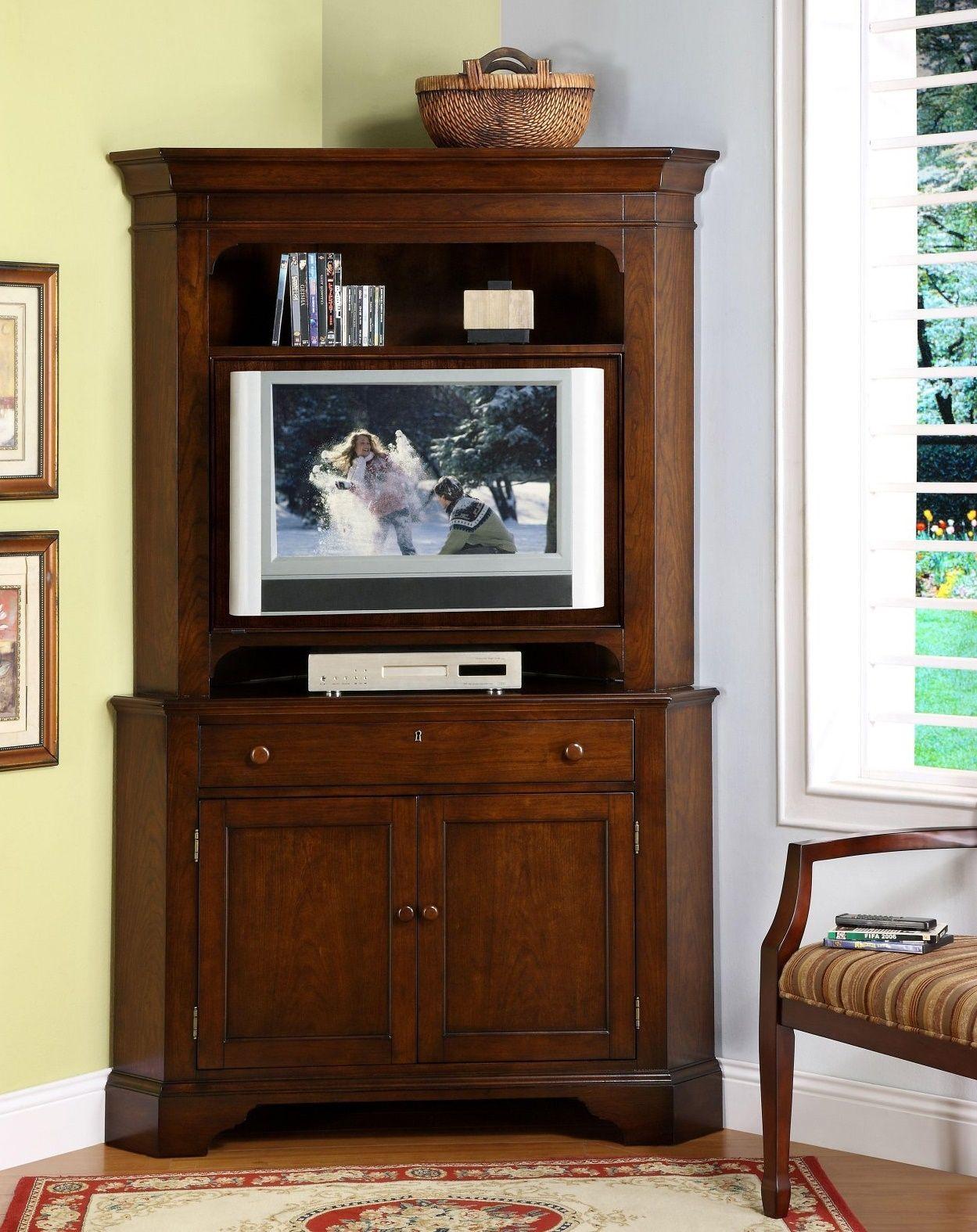 Tall Corner Tv Stand With Doors Corner Tv Cabinets Corner Tv