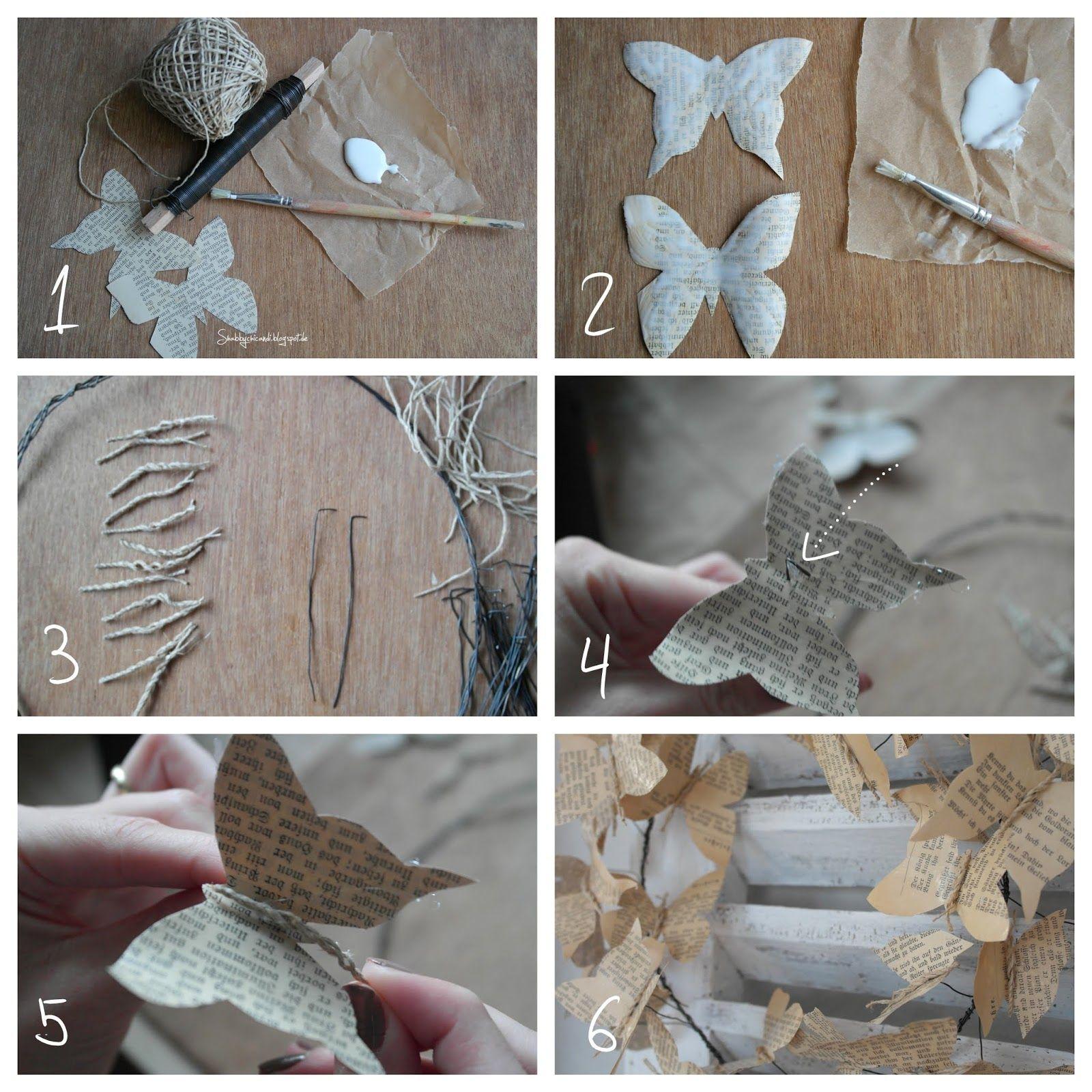 Shabby Chic Diy Und Deko In Wachs: Shabby Chic And I: DIY- Meine Papeterie Schmetterlinge