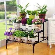 9b269d5aeed3 Outdoor Indoor Pot Plant Stand Garden Metal 3 Tier Planter Shelves Corner  Shelf