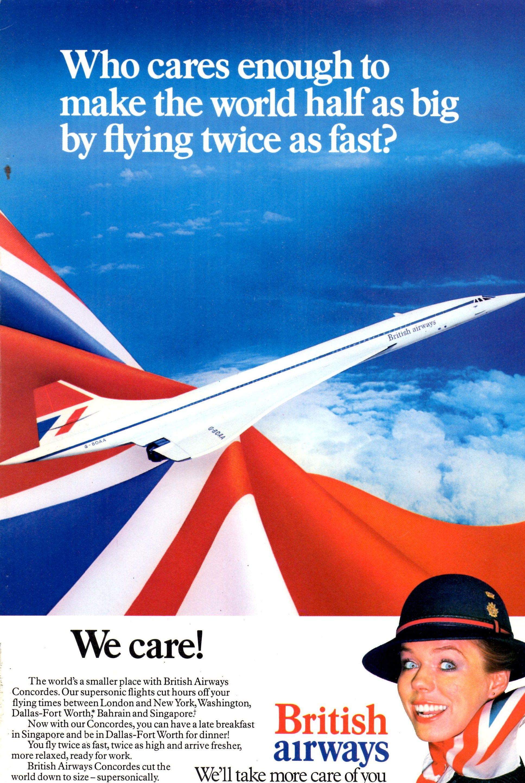 British Airways Concorde Ad British Airways Concorde